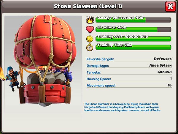 Каменный крушитель в Clash of Clans