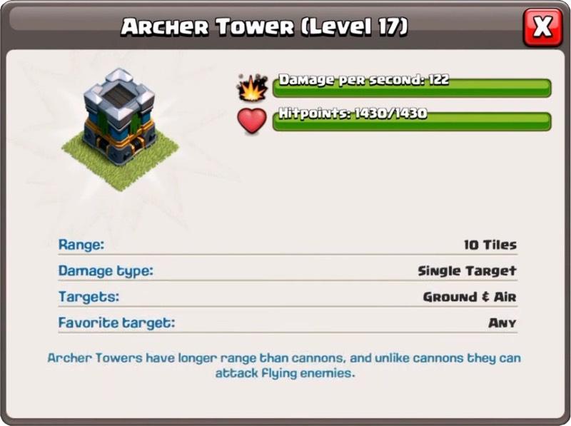 Башня лучниц 17 уровень