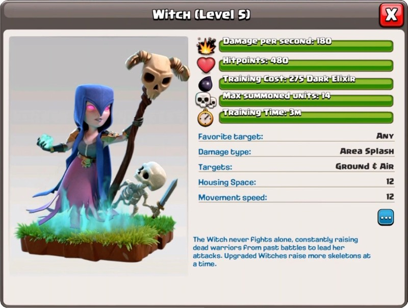 Ведьма 5 уровень - Clash of Clans