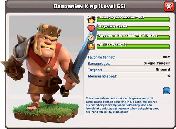 Король варваров 65 уровень - Clash of Clans
