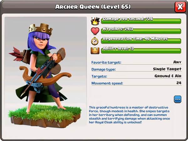 Королева лучниц 65 уровень - Clash of Clans