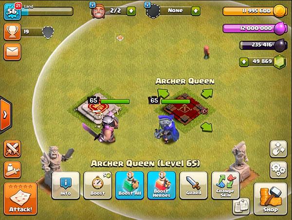 Герои 60 уровня в Clash of Clans