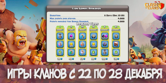 Игры кланов (22 – 28 декабря) | Clash of Clans