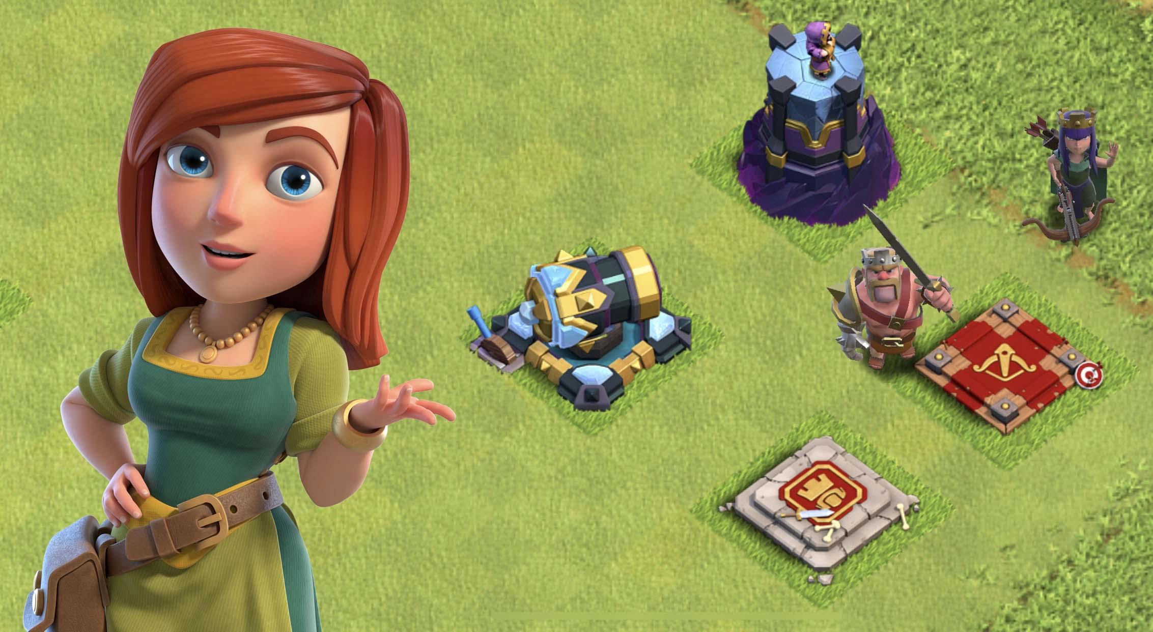Новый облик помощницы в Clash of Clans